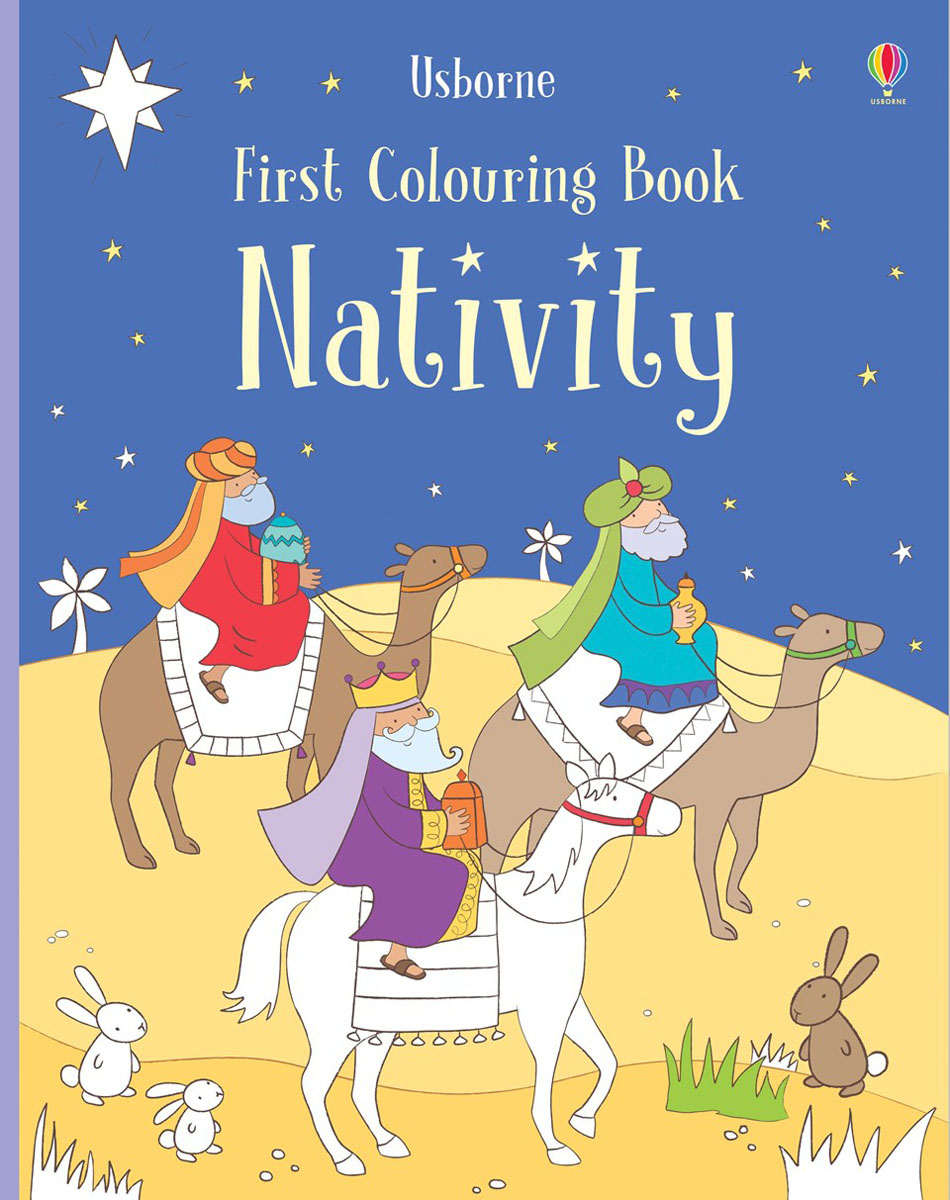 Nativity the usborne terrific colouring and sticker book