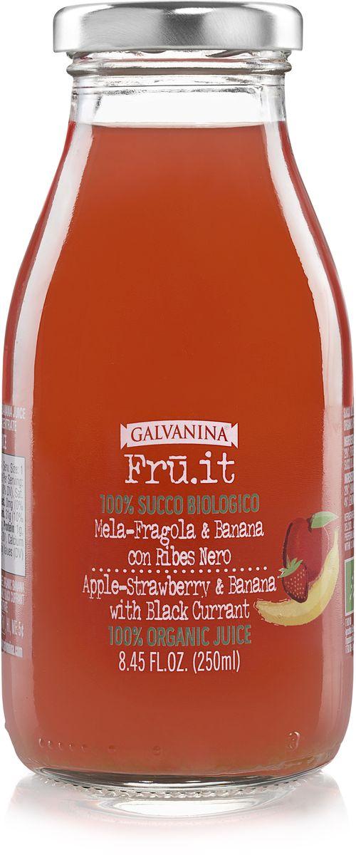 Galvanina сок яблоко-клубника-банан, 250 мл добрый сок яблоко персик 0 2 л