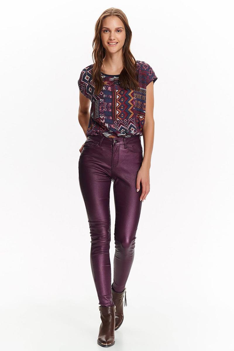 Брюки женские Top Secret, цвет: фиолетовый. SSP2709FI. Размер 42 (50)SSP2709FI