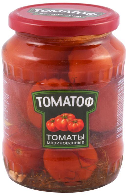 Томатоф томаты маринованные, 720 мл9246Маринованные помидоры относятся к низкокалорийным продуктам, которые разрешается употреблять в период похудения и для поддержания идеальной формы. В маринованных помидорах содержатся витамины и минералы, которые не исчезают под действием раздражителей,