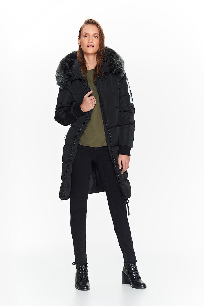 Куртка женская Top Secret, цвет: черный. SKU0790CA. Размер 38 (46) джемпер мужской tom tailor denim цвет бордовый 3022104 01 12 4257 размер xl 52