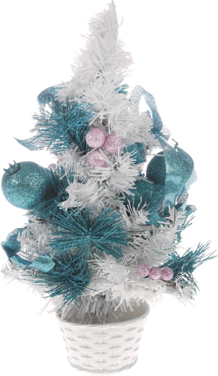 Ель искусственная Sima-Land Новогодняя елочка, настольная, высота 30 см. 705177705177Декоративное украшение Sima-Land Новогодняя елочка, выполненное из пластика, - это мини-елочка для оформления интерьера к Новому году. Ее не нужно ни собирать, ни наряжать, зато настроение праздника она создает очень быстро. Елка в горшочке украшена шишками, лентами, елочными игрушками и шариками. Елка украсит интерьер вашего дома или офиса к Новому году и создаст теплую и уютную атмосферу праздника.Откройте для себя удивительный мир сказок и грез. Почувствуйте волшебные минуты ожидания праздника, создайте новогоднее настроение вашим дорогим и близким. Характеристики:Материал: пластик, металл, текстиль. Цвет: белый, голубой, сиреневый. Размер елочки: 17 см х 17 см х 30.
