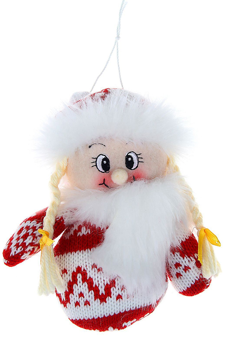 Новогоднее подвесное украшение Sima-land Девочка в свитерке-варежке, 15 см1060489Новогоднее украшение Sima-land отлично подойдет для декорации вашего дома и новогодней ели. Елочная игрушка - символ Нового года. Она несет в себе волшебство и красоту праздника. Такое украшение создаст в вашем доме атмосферу праздника, веселья и радости.