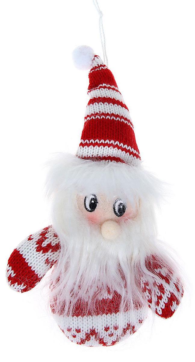 Новогоднее подвесное украшение Sima-land Дед Мороз в свитерке-варежке, 15 см1060490Новогоднее украшение Sima-land отлично подойдет для декорации вашего дома и новогодней ели. Елочная игрушка - символ Нового года. Она несет в себе волшебство и красоту праздника. Такое украшение создаст в вашем доме атмосферу праздника, веселья и радости.