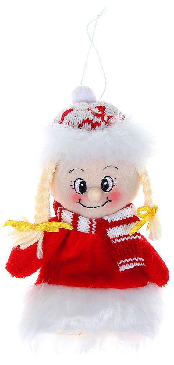 Новогоднее подвесное украшение Sima-land Девочка в свитерке-платье, 15 см1060491Новогоднее украшение Sima-land отлично подойдет для декорации вашего дома и новогодней ели. Елочная игрушка - символ Нового года. Она несет в себе волшебство и красоту праздника. Такое украшение создаст в вашем доме атмосферу праздника, веселья и радости.
