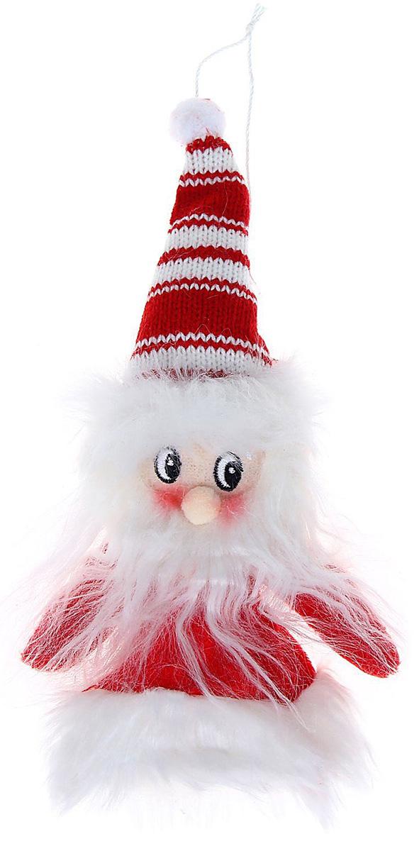 Новогоднее подвесное украшение Sima-land Дед Мороз в свитерке-платье, 15 см1060492Новогоднее украшение Sima-land отлично подойдет для декорации вашего дома и новогодней ели. Елочная игрушка - символ Нового года. Она несет в себе волшебство и красоту праздника. Такое украшение создаст в вашем доме атмосферу праздника, веселья и радости.