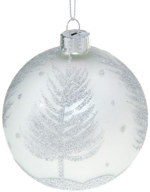 Новогоднее подвесное украшение Sima-land Серебряная елочка, диаметр 8 см ваза sima land серебряная роза высота 18 см page 2