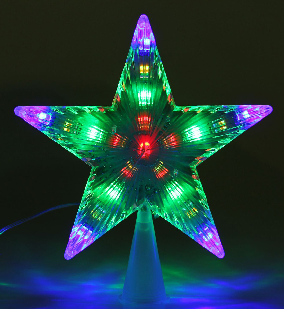 Верхушка на елку Luazon Звезда белая, светодиодная, 17 х 17 см1077216Верхушка Luazon, выполненная из пластика, прекрасно подойдет для декора новогодней елки. Изделие создаст особое настроение новогоднего торжества. Изделие работает от сети 220 v.Верхушка на елку - одно из главных новогодних украшений лесной красавицы. Она принесет в ваш дом ни с чем не сравнимое ощущение праздника! Новогодние украшения несут в себе волшебство. Они помогут вам украсить дом к предстоящим праздникам и оживить интерьер по вашему вкусу. Создайте в доме атмосферу тепла, веселья и радости, украшая его всей семьей.