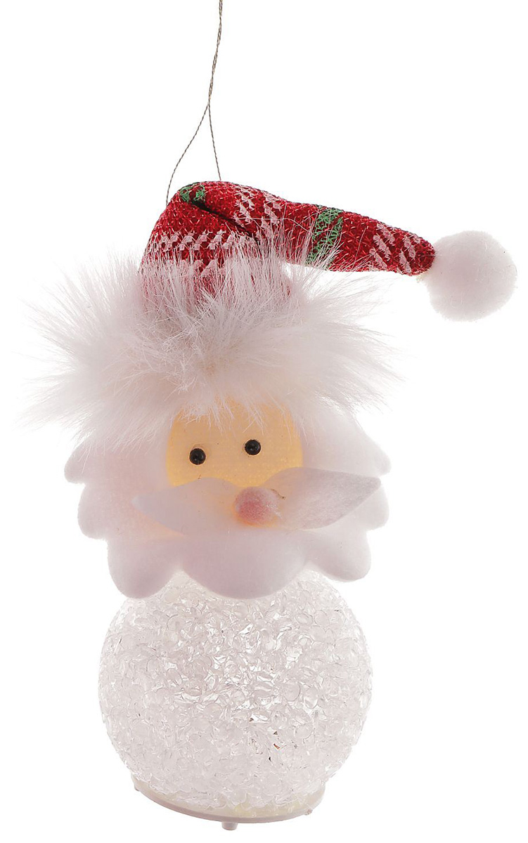Новогоднее подвесное украшение Sima-land Дед мороз. Красный колпак, светящаяся, 11 х 5 см1102736Новогоднее украшение Sima-land отлично подойдет для декорации вашего дома и новогодней ели.Елочная игрушка - символ Нового года. Она несет в себе волшебство и красоту праздника. Такое украшение создаст в вашем доме атмосферу праздника, веселья и радости.
