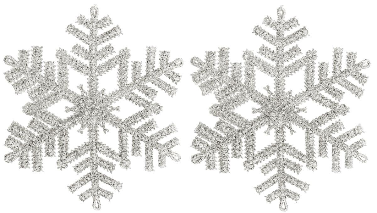 Новогоднее подвесное украшение Sima-land Снежинка. Белый перелив, 16 см, 3 шт1113530Новогоднее украшение Sima-land отлично подойдет для декорации вашего дома и новогодней ели. Елочная игрушка - символ Нового года. Она несет в себе волшебство и красоту праздника. Такое украшение создаст в вашем доме атмосферу праздника, веселья и радости.