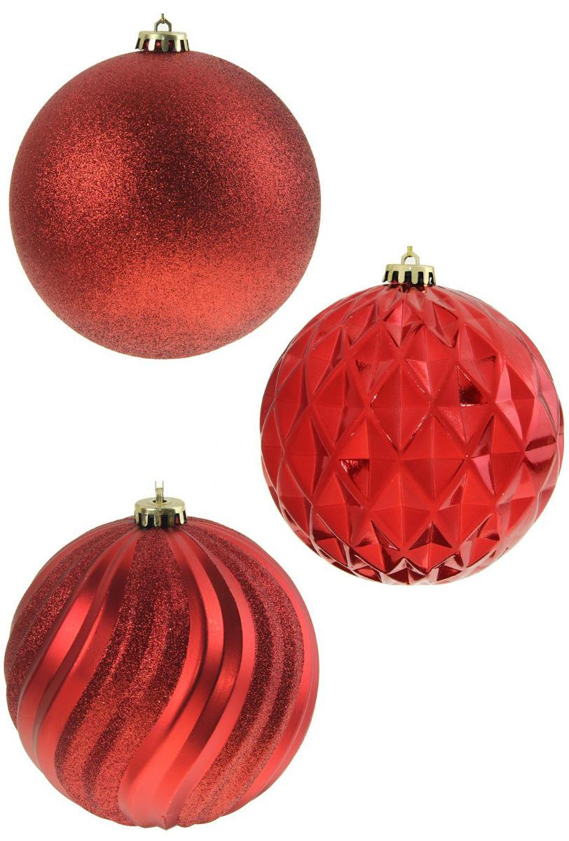 Набор новогодних подвесных украшений Sima-land Красное ассорти, диаметр 15 см, 3 шт кармашки на стену для бани sima land банные мелочи цвет белый 3 шт