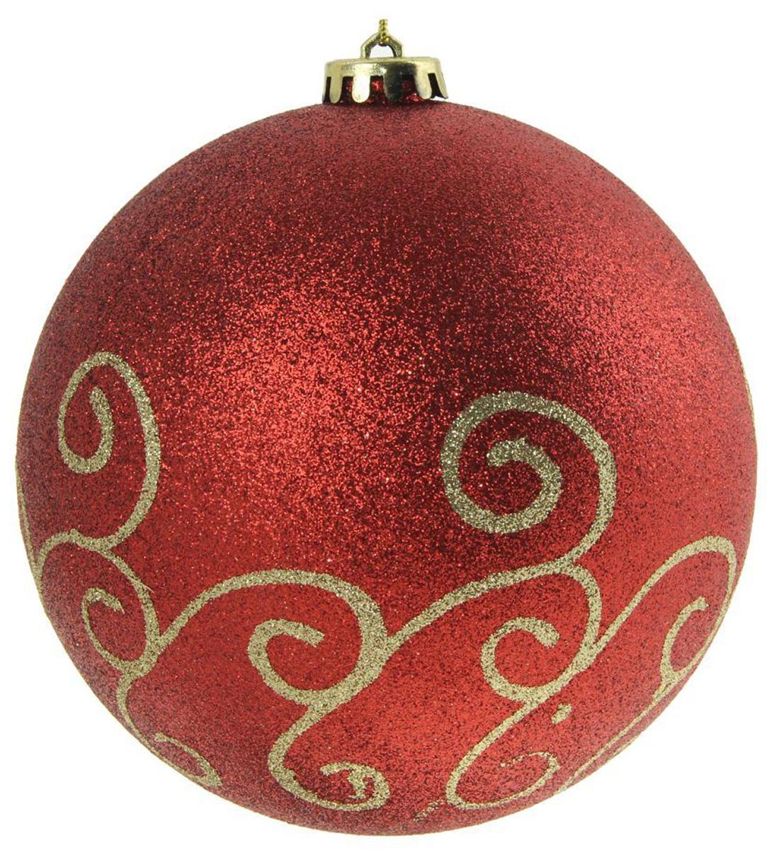 Новогоднее подвесное украшение Sima-land Красный узор, диаметр 15 см1305732Новогоднее украшение Sima-land отлично подойдет для декорации вашего дома и новогодней ели. Елочная игрушка - символ Нового года. Она несет в себе волшебство и красоту праздника. Такое украшение создаст в вашем доме атмосферу праздника, веселья и радости.