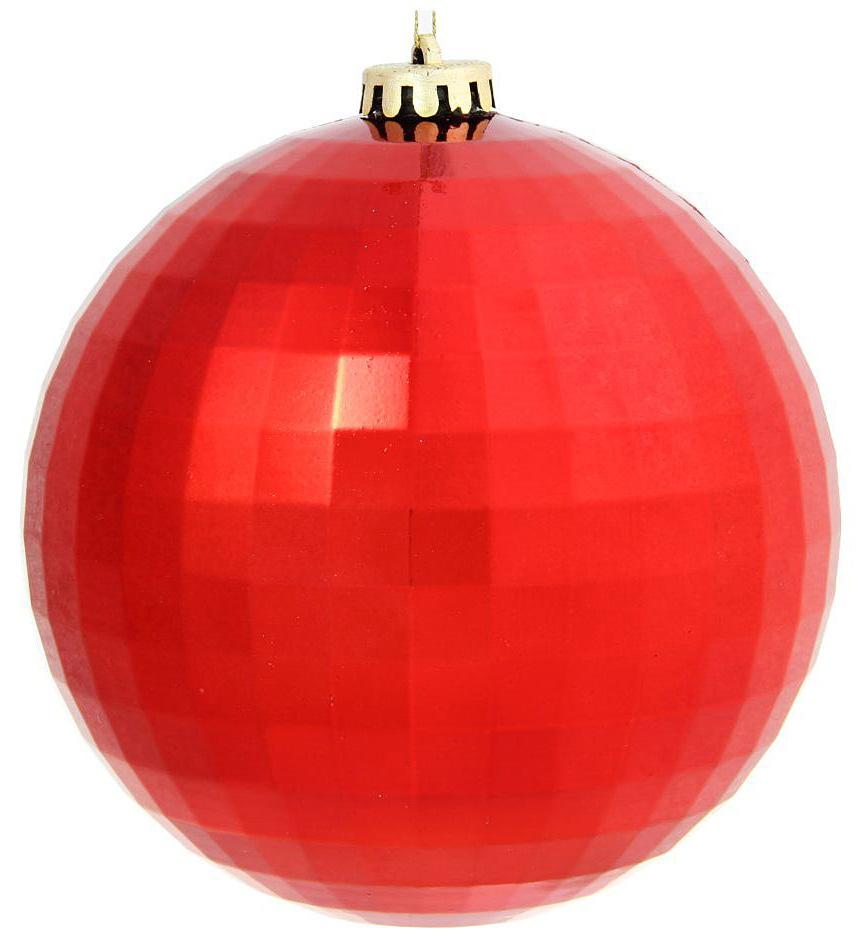 Новогоднее подвесное украшение Sima-land Дискотека, цвет: красный, диаметр 15 см1305733Новогоднее украшение Sima-land отлично подойдет для декорации вашего дома и новогодней ели. Елочная игрушка - символ Нового года. Она несет в себе волшебство и красоту праздника. Такое украшение создаст в вашем доме атмосферу праздника, веселья и радости.