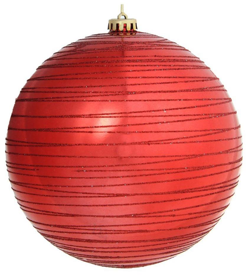 Новогоднее подвесное украшение Sima-land Полосы, цвет: красный, диаметр 20 см1305734Новогоднее украшение Sima-land отлично подойдет для декорации вашего дома и новогодней ели. Елочная игрушка - символ Нового года. Она несет в себе волшебство и красоту праздника. Такое украшение создаст в вашем доме атмосферу праздника, веселья и радости.