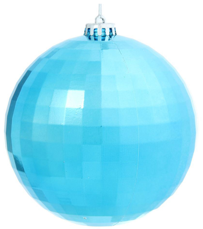 Новогоднее подвесное украшение Sima-land Дискотека, цвет: голубой, диаметр 15 см sima land антистрессовая игрушка заяц хрустик 04 цвет зеленый