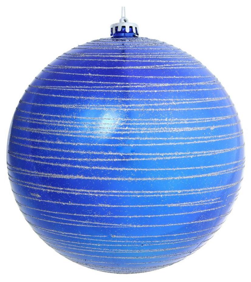 Новогоднее подвесное украшение Sima-land Полосы, цвет: синий, диаметр 20 см новогоднее подвесное украшение собака ф21 1716