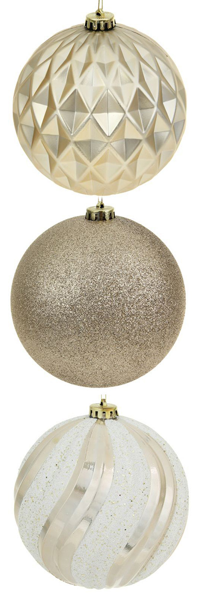 Набор новогодних подвесных украшений Sima-land Кремовое ассорти, диаметр 15 см, 3 шт кармашки на стену для бани sima land банные мелочи цвет белый 3 шт