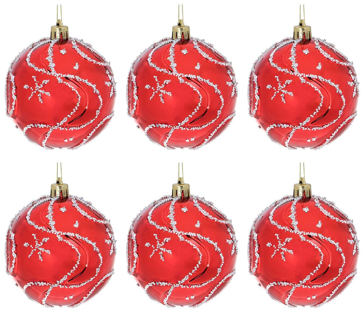 Набор новогодних подвесных украшений Sima-land Заснеженный, диаметр 8 см, 6 шт1307046Набор новогодних подвесных украшений Sima-land изготовлен из пластика. Изделия имеют плотный корпус, поэтому не разобьются при падении.Невозможно представить нашу жизнь без праздников! Новогодние украшения несут в себе волшебство и красоту праздника. Создайте в своем доме атмосферу тепла, веселья и радости, украшая его всей семьей.В наборе 6 украшений.