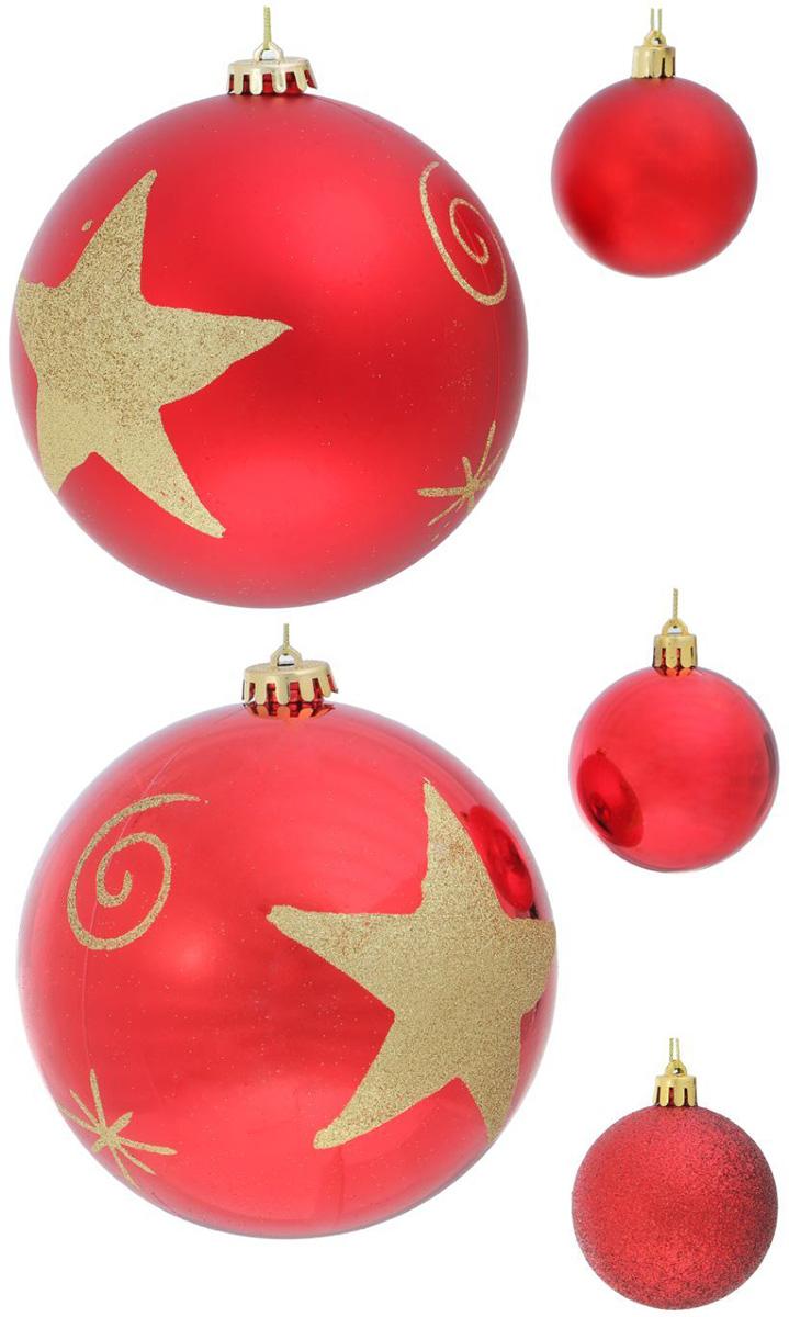 Набор новогодних подвесных украшений Sima-land Красный звезда, 27 шт1307054Набор новогодних подвесных украшений Sima-land отлично подойдет для декорации вашего дома и новогодней ели. С помощью специальной петельки украшение можно повесить в любом понравившемся вам месте. Но, конечно, удачнее всего оно будет смотреться на праздничной елке. Елочная игрушка - символ Нового года. Она несет в себе волшебство и красоту праздника. Создайте в своем доме атмосферу веселья и радости, украшая новогоднюю елку нарядными игрушками, которые будут из года в год накапливать теплоту воспоминаний.