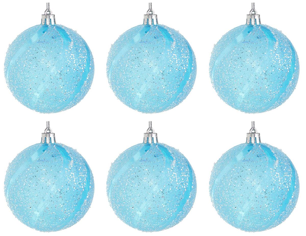 """Набор новогодних подвесных украшений """"Sima-land"""" изготовлен из пластика. Изделия имеют плотный корпус, поэтому не разобьются при падении.Невозможно представить нашу жизнь без праздников! Новогодние украшения несут в себе волшебство и красоту праздника. Создайте в своем доме атмосферу тепла, веселья и радости, украшая его всей семьей.В наборе 6 украшений."""