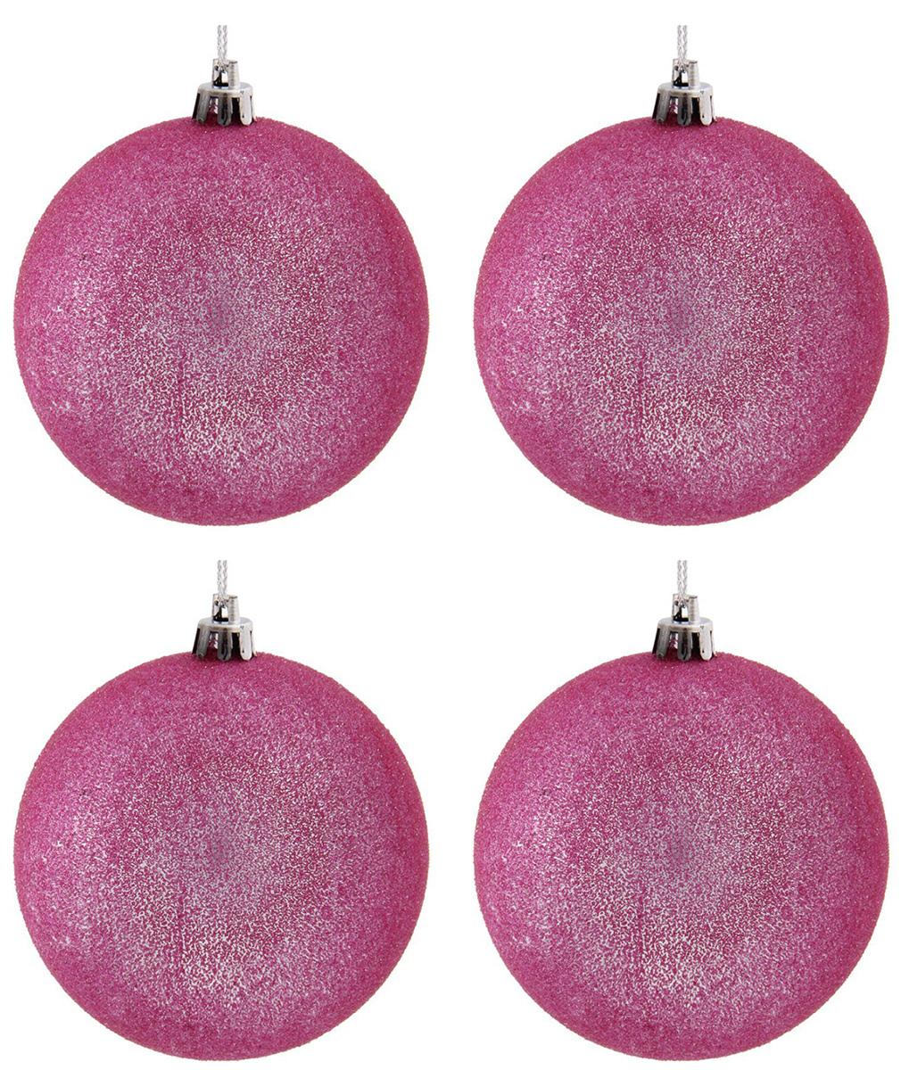 Набор новогодних подвесных украшений Sima-land Сияние, цвет: розовый, диаметр 8 см, 4 шт1307144Набор новогодних подвесных украшений Sima-land отлично подойдет для декорации вашего дома и новогодней ели. С помощью специальной петельки украшение можно повесить в любом понравившемся вам месте. Но, конечно, удачнее всего оно будет смотреться на праздничной елке. Елочная игрушка - символ Нового года. Она несет в себе волшебство и красоту праздника. Создайте в своем доме атмосферу веселья и радости, украшая новогоднюю елку нарядными игрушками, которые будут из года в год накапливать теплоту воспоминаний.