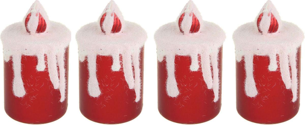 Новогоднее подвесное украшение Sima-land Свеча снежная, 9 х 4,5 см, 4 шт1346560Новогоднее украшение Sima-land отлично подойдет для декорации вашего дома и новогодней ели. Елочная игрушка - символ Нового года. Она несет в себе волшебство и красоту праздника. Такое украшение создаст в вашем доме атмосферу праздника, веселья и радости.