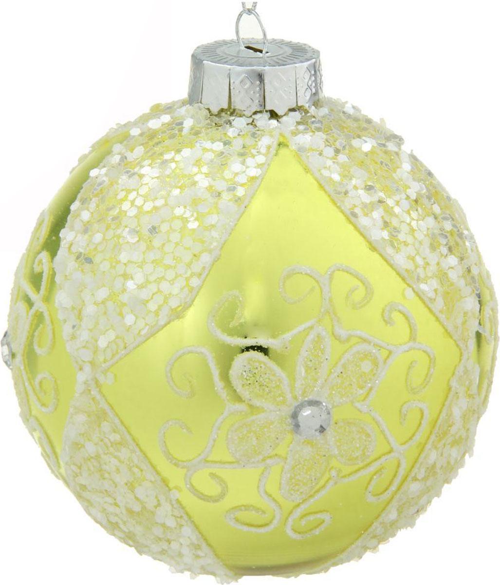 Новогоднее подвесное украшение Sima-land Цветок узорный, диаметр 10 см новогоднее подвесное украшение sima land зимний узор диаметр 8 см