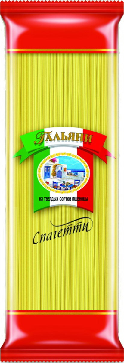 Гальяни спагетти, 500 г4326Макаронные изделия из твердых сортов пшеницы. Группа А. Высший сорт.ГОСТ 31743-2012.Без пищевых добавок и красителей.