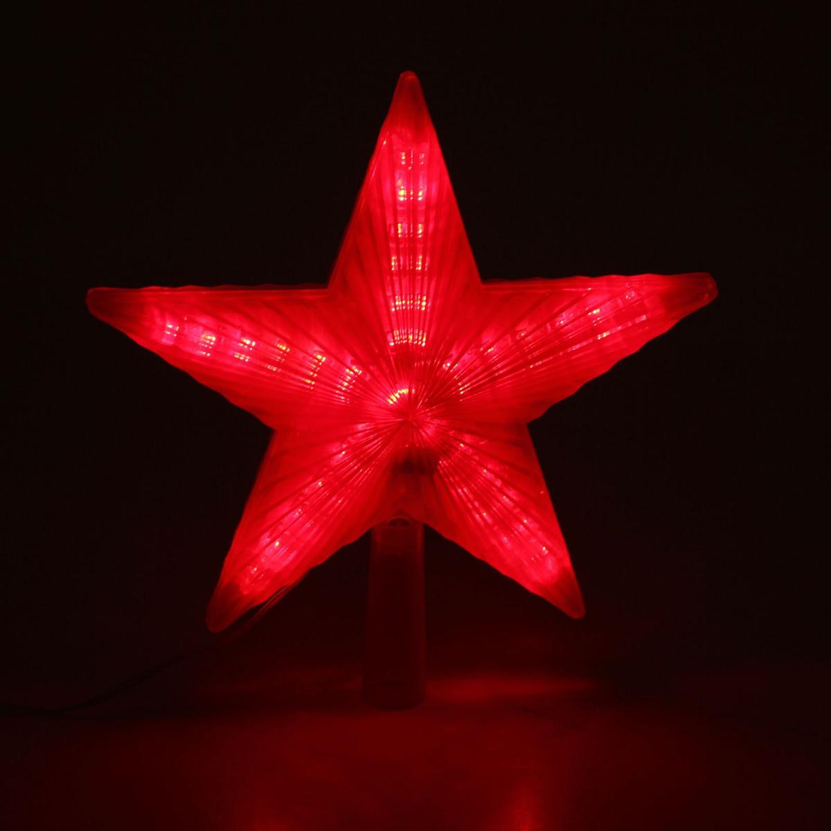 Верхушка на елку Luazon Звезда красная, светодиодная, 30 LED, 22 х 22 см1354076Верхушка Luazon, выполненная из пластика, прекрасно подойдет для декора новогодней елки. Изделие создаст особое настроение новогоднего торжества. Изделие работает от сети 220 v.Верхушка на елку - одно из главных новогодних украшений лесной красавицы. Она принесет в ваш дом ни с чем не сравнимое ощущение праздника! Новогодние украшения несут в себе волшебство. Они помогут вам украсить дом к предстоящим праздникам и оживить интерьер по вашему вкусу. Создайте в доме атмосферу тепла, веселья и радости, украшая его всей семьей.