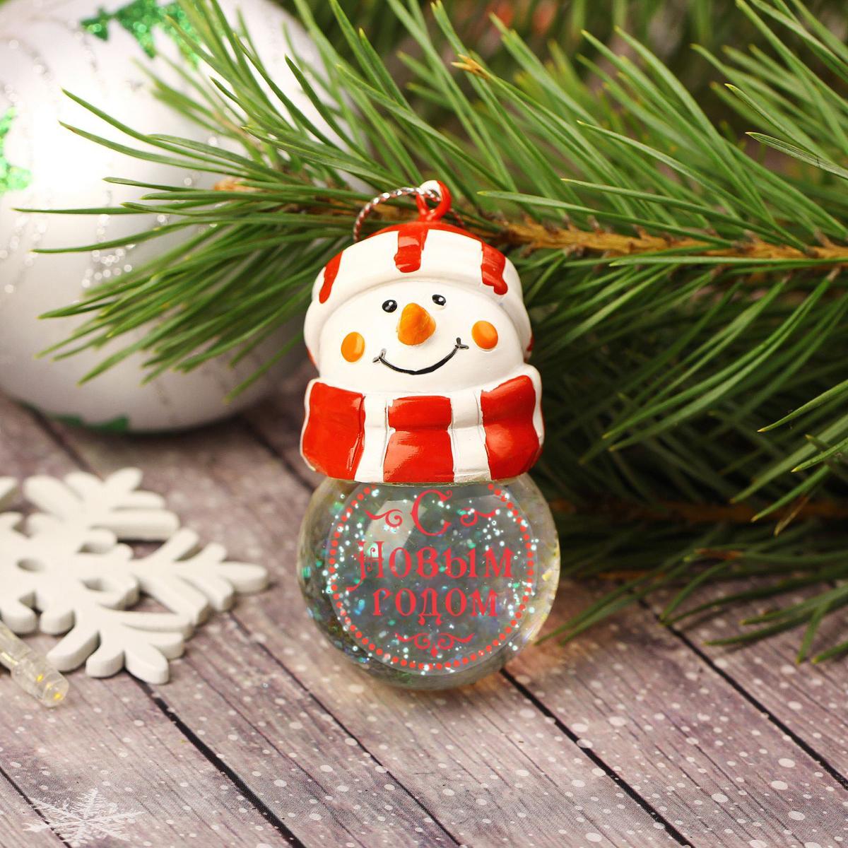 Новогоднее подвесное украшение Sima-land С Новым годом, светящееся, 6,3 см1366202Новогоднее украшение Sima-land отлично подойдет для декорации вашего дома и новогодней ели. Елочная игрушка - символ Нового года. Она несет в себе волшебство и красоту праздника. Такое украшение создаст в вашем доме атмосферу праздника, веселья и радости.