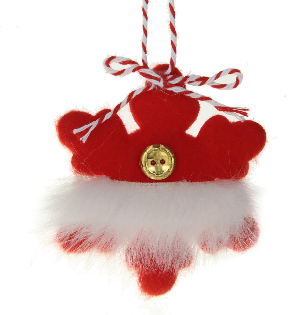 Новогоднее подвесное украшение Sima-land Пушистая звездочка, 9 х 7 см1381158Новогоднее украшение Sima-land отлично подойдет для декорации вашего дома и новогодней ели.Елочная игрушка - символ Нового года. Она несет в себе волшебство и красоту праздника. Такое украшение создаст в вашем доме атмосферу праздника, веселья и радости.