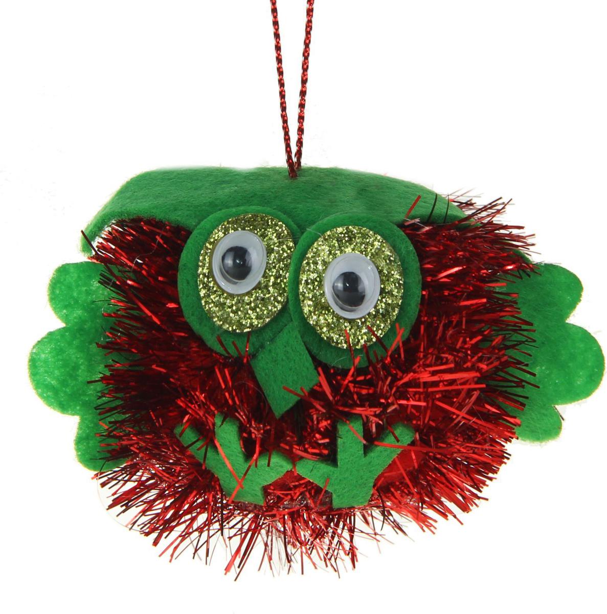 Новогоднее подвесное украшение Sima-land Совенок. Блеск, цвет: красный, 5 х 7 см1381159Новогоднее украшение Sima-land отлично подойдет для декорации вашего дома и новогодней ели.Елочная игрушка - символ Нового года. Она несет в себе волшебство и красоту праздника. Такое украшение создаст в вашем доме атмосферу праздника, веселья и радости.