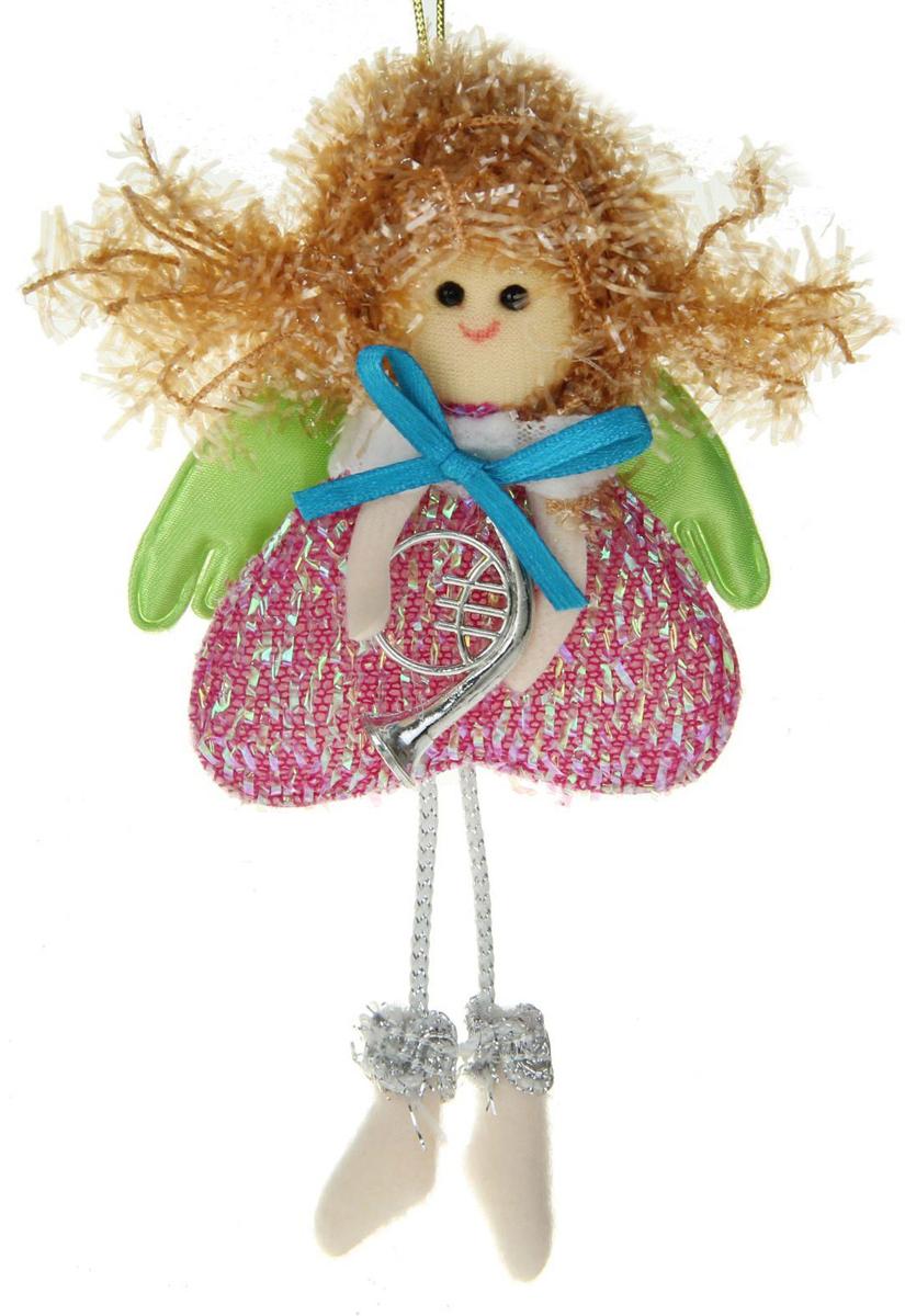Новогоднее подвесное украшение Sima-land Девочка. Сердце, 15 х 7,5 см1381185Новогоднее украшение Sima-land отлично подойдет для декорации вашего дома и новогодней ели.Елочная игрушка - символ Нового года. Она несет в себе волшебство и красоту праздника. Такое украшение создаст в вашем доме атмосферу праздника, веселья и радости.