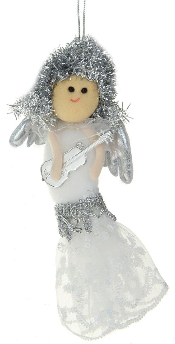 Новогоднее подвесное украшение Sima-land Девочка в кружевном платье, 13 х 6,5 см1381195Новогоднее украшение Sima-land отлично подойдет для декорации вашего дома и новогодней ели.Елочная игрушка - символ Нового года. Она несет в себе волшебство и красоту праздника. Такое украшение создаст в вашем доме атмосферу праздника, веселья и радости.