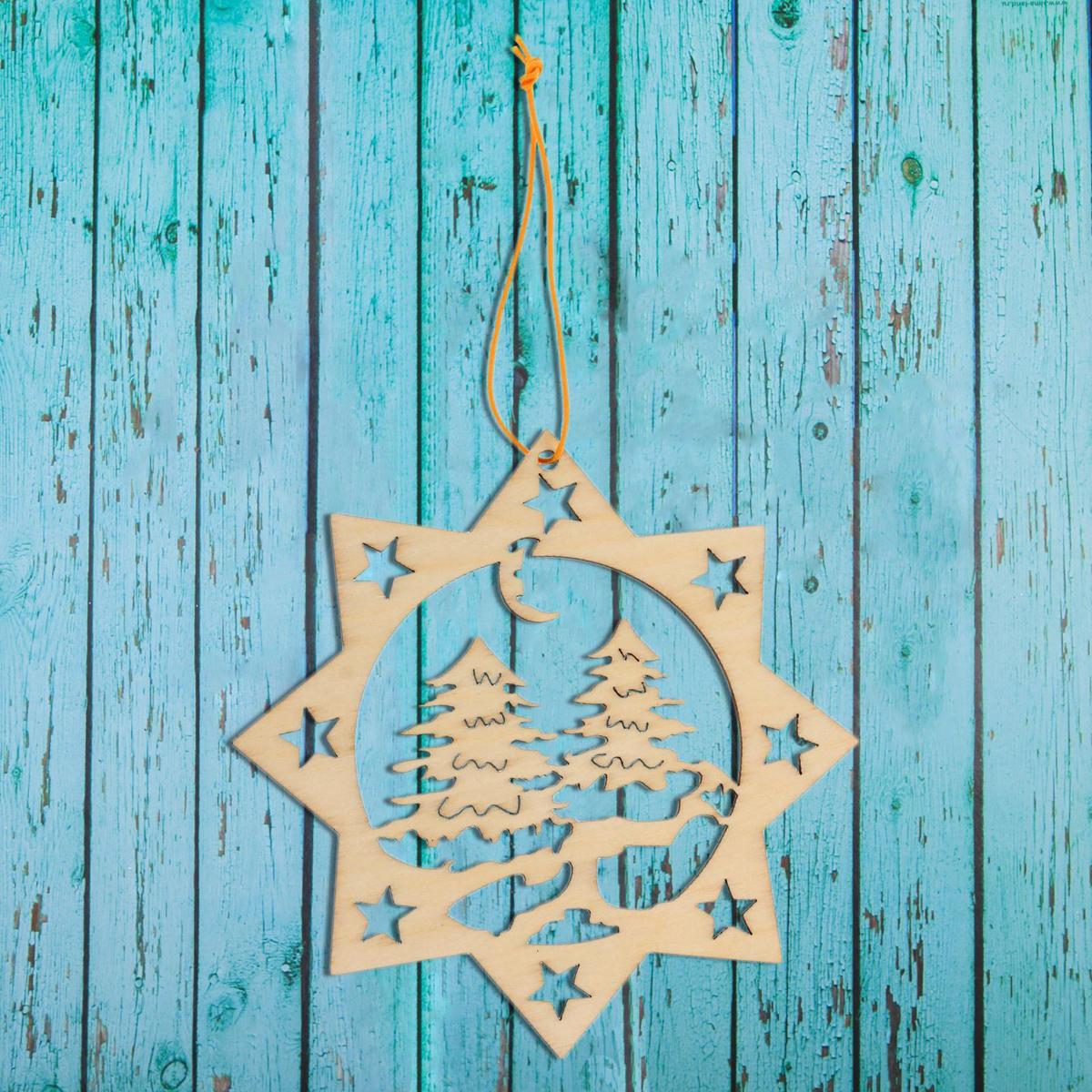 Новогоднее подвесное украшение Sima-land Зимний лес, под роспись, 10 х 10 см1393688Новогоднее украшение Sima-land отлично подойдет для декорации вашего дома и новогодней ели. Елочная игрушка - символ Нового года. Она несет в себе волшебство и красоту праздника. Такое украшение создаст в вашем доме атмосферу праздника, веселья и радости.
