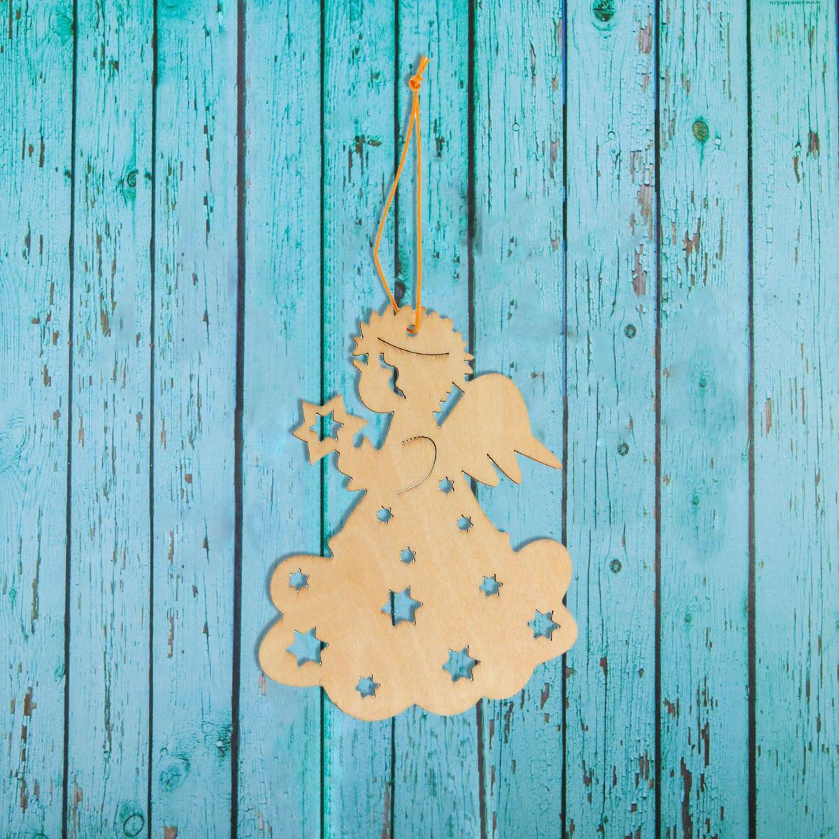 Новогоднее подвесное украшение Sima-land Ангелочек, под роспись, 8 х 10 см1393695Новогоднее подвесное украшение Sima-land отлично подойдет для декорации вашего дома и новогодней ели. Новогоднее украшение можно повесить в любом понравившемся вам месте. Но, конечно, удачнее всего оно будет смотреться на праздничной елке.Елочная игрушка - символ Нового года. Она несет в себе волшебство и красоту праздника. Такое украшение создаст в вашем доме атмосферу праздника, веселья и радости.
