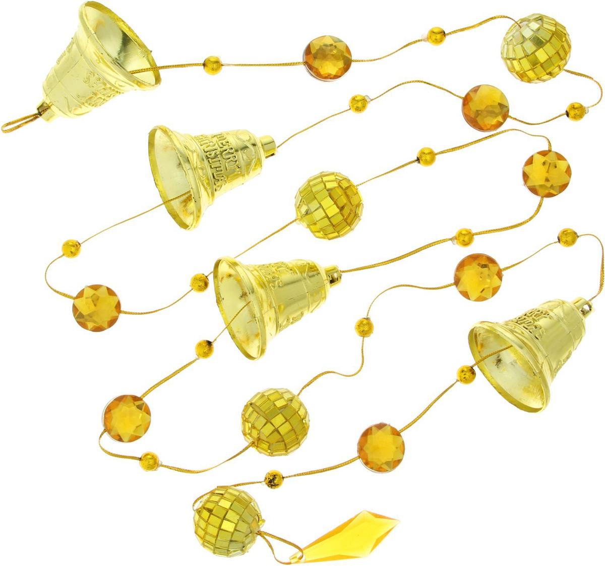 Бусы на елку Sima-land Зеркальные шарики с колокольчиками, 1,6 м1401732Новогодние бусы Sima-land отлично подойдут для декорации вашего дома и новогодней ели. Бусы на елку создадут в вашем доме атмосферу праздника, веселья и радости.
