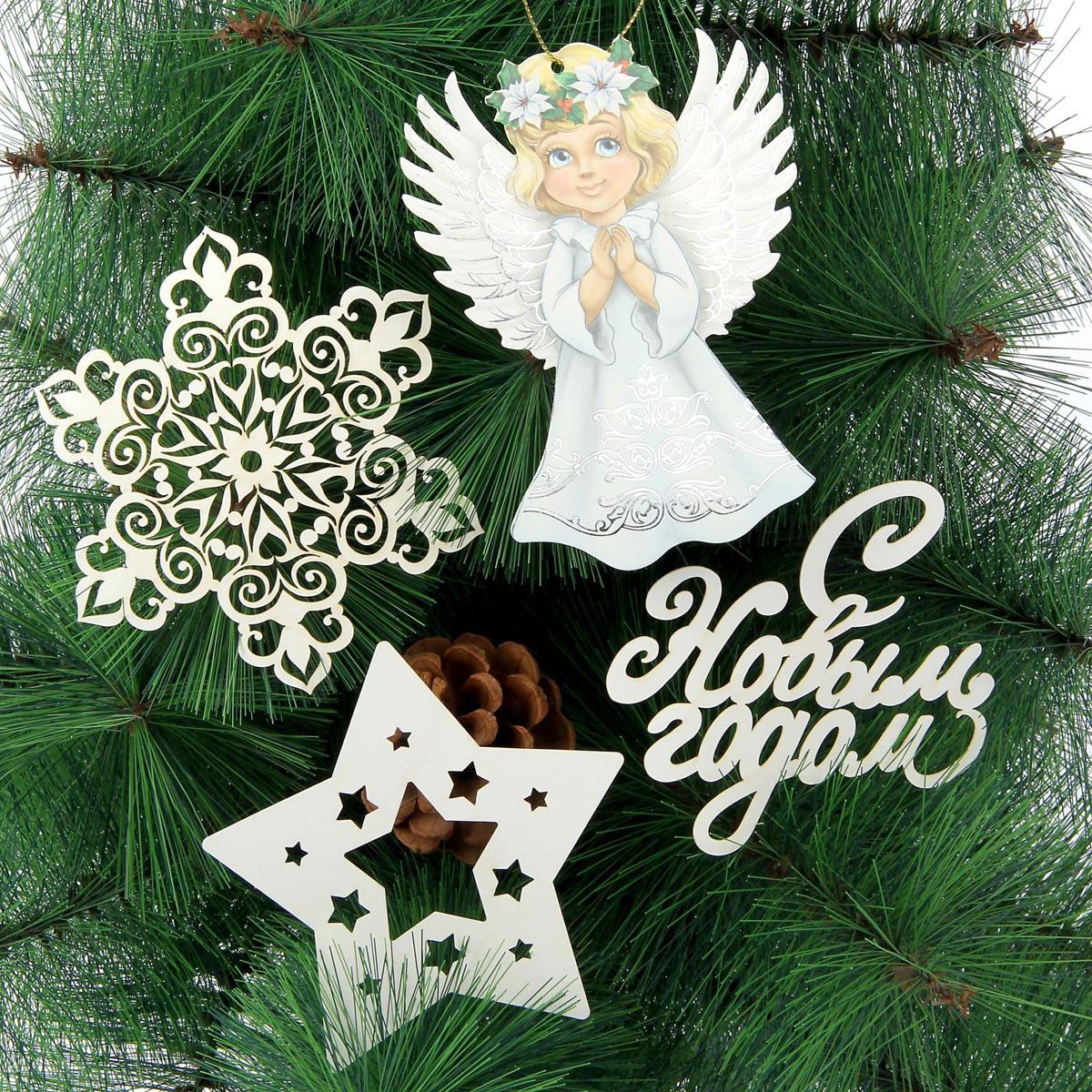 Набор для оформления Нового года Sima-land Ангелы, 13 х 15 см, 10 шт1428739Невозможно представить нашу жизнь без праздников! Мы всегда ждём их и предвкушаем, обдумываем, как проведём памятный день, тщательно выбираем подарки и аксессуары, ведь именно они создают и поддерживают торжественный настрой.