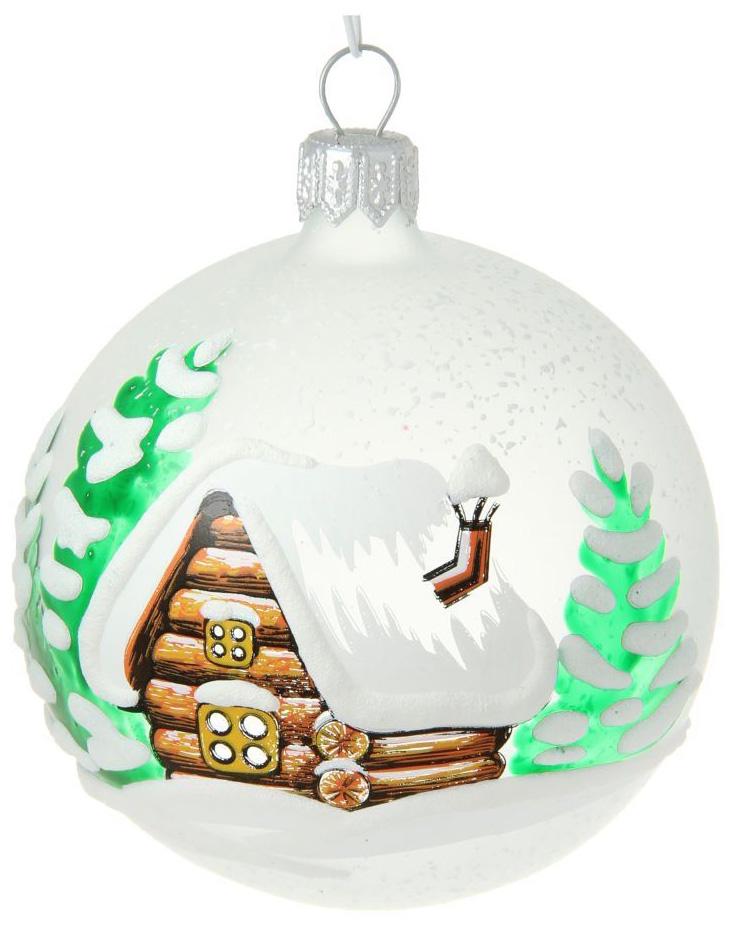 Новогоднее подвесное украшение Ёлочка Опушка, диаметр 7,5 см новогоднее подвесное украшение собака ф21 1716