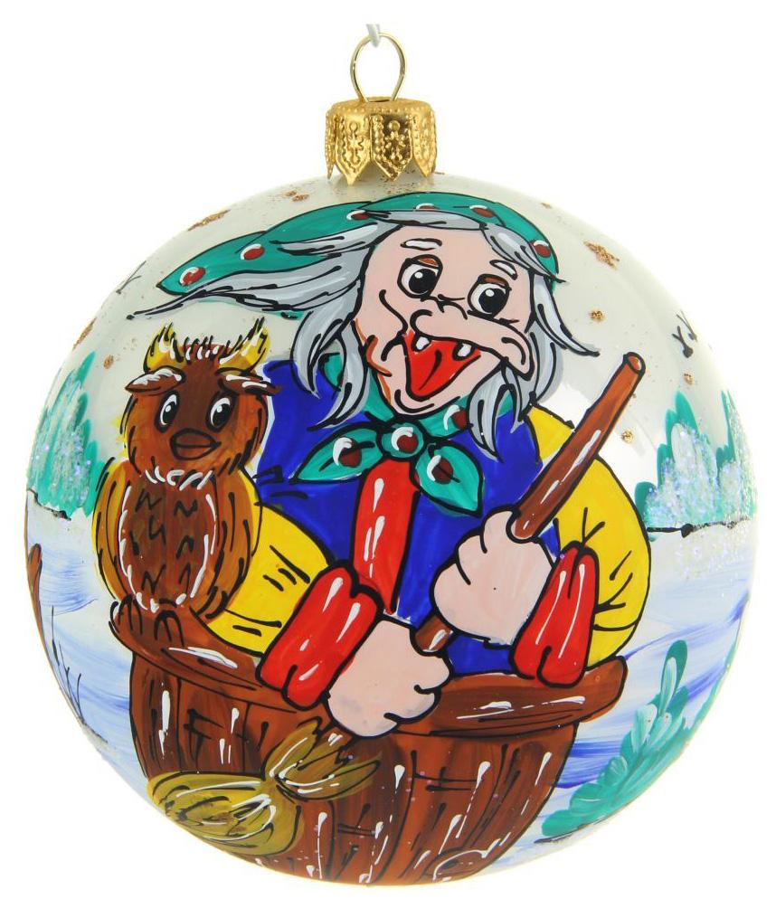 Украшение новогоднее елочное Иней Баба-яга, диаметр 10 см1519282Новогоднее подвесное украшение Иней отлично подойдет для декорации вашего дома и новогодней ели. Новогоднее украшение можно повесить в любом понравившемся вам месте. Но, конечно, удачнее всего оно будет смотреться на праздничной елке.Елочная игрушка - символ Нового года. Она несет в себе волшебство и красоту праздника. Такое украшение создаст в вашем доме атмосферу праздника, веселья и радости.