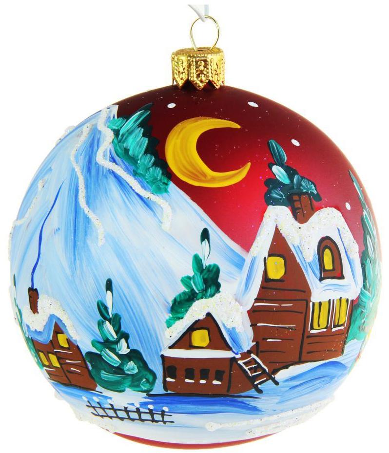 Украшение новогоднее елочное Иней Горный аул, диаметр 10 см1519287Невозможно представить нашу жизнь без праздников! Мы всегда ждём их и предвкушаем, обдумываем, как проведём памятный день, тщательно выбираем подарки и аксессуары, ведь именно они создают и поддерживают торжественный настрой.