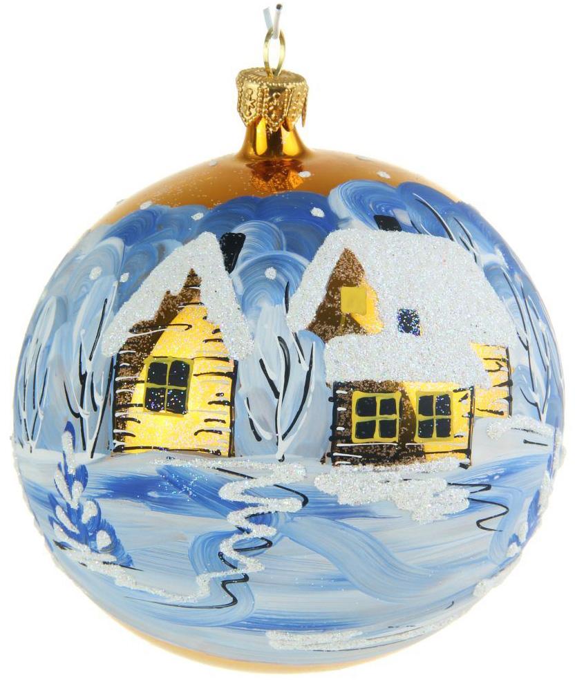 Украшение новогоднее елочное Иней Деревенька, диаметр 10 см1519289Новогоднее подвесное украшение Иней отлично подойдет для декорации вашего дома и новогодней ели. Новогоднее украшение можно повесить в любом понравившемся вам месте. Но, конечно, удачнее всего оно будет смотреться на праздничной елке.Елочная игрушка - символ Нового года. Она несет в себе волшебство и красоту праздника. Такое украшение создаст в вашем доме атмосферу праздника, веселья и радости.