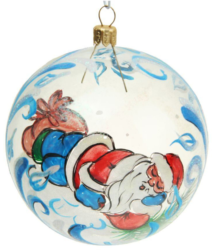 Новогоднее подвесное украшение Бирюсинка Отдых Деда Мороза, диаметр 9,5 см1532451Новогоднее подвесное украшение Бирюсинка отлично подойдет для декорации вашего дома и новогодней ели. Новогоднее украшение можно повесить в любом понравившемся вам месте. Но, конечно, удачнее всего оно будет смотреться на праздничной елке.Елочная игрушка - символ Нового года. Она несет в себе волшебство и красоту праздника. Такое украшение создаст в вашем доме атмосферу праздника, веселья и радости.