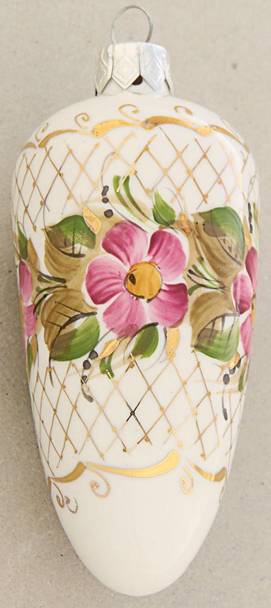 Новогоднее подвесное украшение Sima-land Шишка. Гжель, 4,5 х 4,5 х 10 см новогоднее подвесное украшение собака ф21 1716