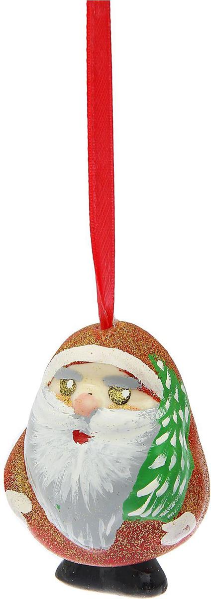Украшение новогоднее елочное Керамика ручной работы Колокольчик. Дед мороз, 5 х 5 х 6 см1573585Невозможно представить нашу жизнь без праздников! Мы всегда ждём их и предвкушаем, обдумываем, как проведём памятный день, тщательно выбираем подарки и аксессуары, ведь именно они создают и поддерживают торжественный настрой.