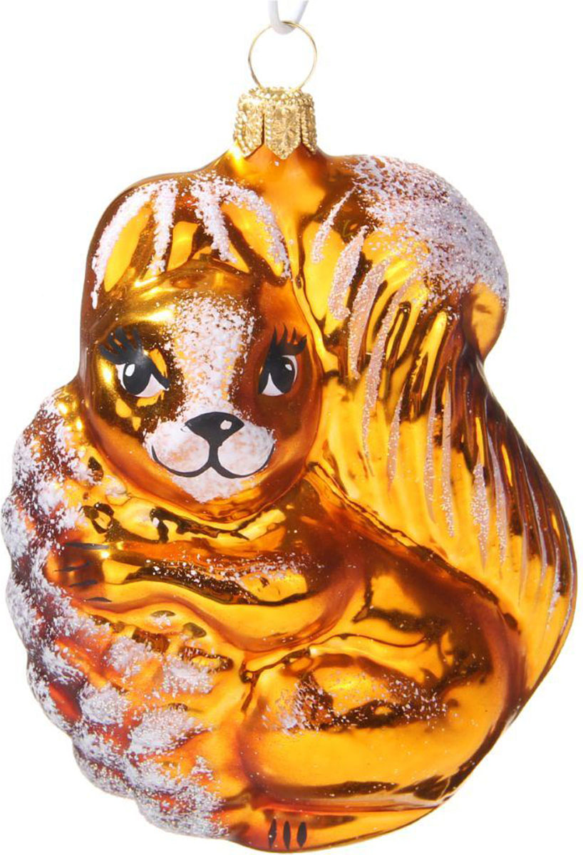 Новогоднее подвесное украшение Ёлочка Белка, 6 х 6 х 12,5 см1721436Новогоднее подвесное украшение Ёлочка отлично подойдет для декорации вашего дома и новогодней ели. Новогоднее украшение можно повесить в любом понравившемся вам месте. Но, конечно, удачнее всего оно будет смотреться на праздничной елке.Елочная игрушка - символ Нового года. Она несет в себе волшебство и красоту праздника. Такое украшение создаст в вашем доме атмосферу праздника, веселья и радости.