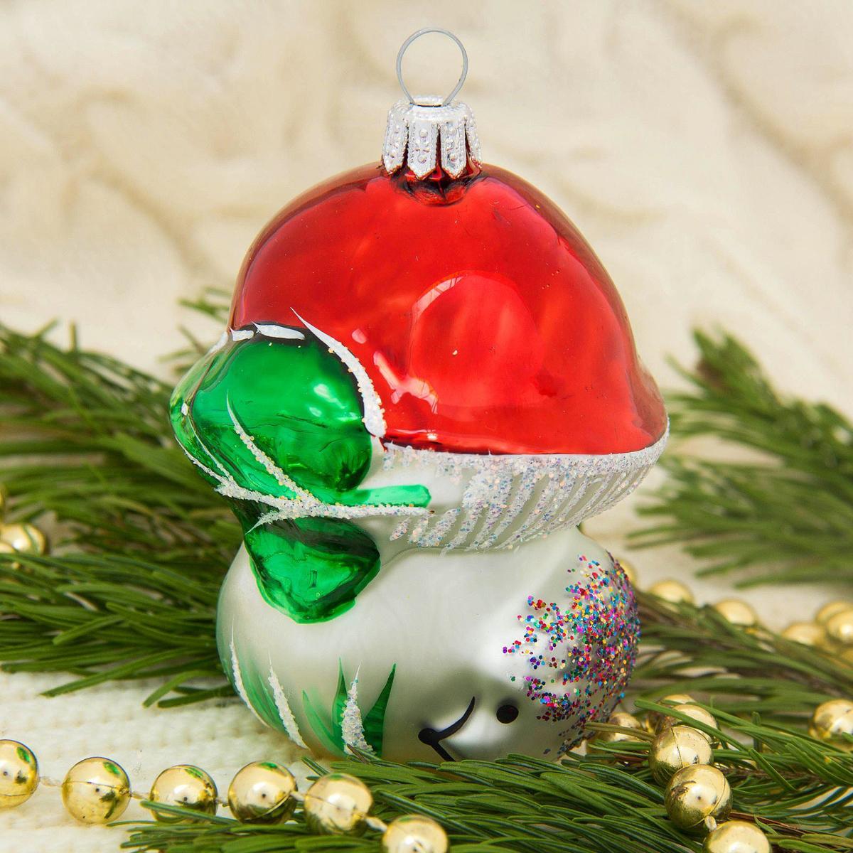 Украшение новогоднее елочное Ёлочка Грибок, 6 х 8 х 11 см1721437Невозможно представить нашу жизнь без праздников! Мы всегда ждём их и предвкушаем, обдумываем, как проведём памятный день, тщательно выбираем подарки и аксессуары, ведь именно они создают и поддерживают торжественный настрой.