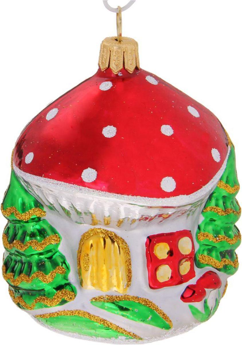 Новогоднее подвесное украшение Ёлочка Домик-грибок, 7,5 х 6 х 10,5 см1721439Новогоднее подвесное украшение Ёлочка отлично подойдет для декорации вашего дома и новогодней ели. Новогоднее украшение можно повесить в любом понравившемся вам месте. Но, конечно, удачнее всего оно будет смотреться на праздничной елке.Елочная игрушка - символ Нового года. Она несет в себе волшебство и красоту праздника. Такое украшение создаст в вашем доме атмосферу праздника, веселья и радости.