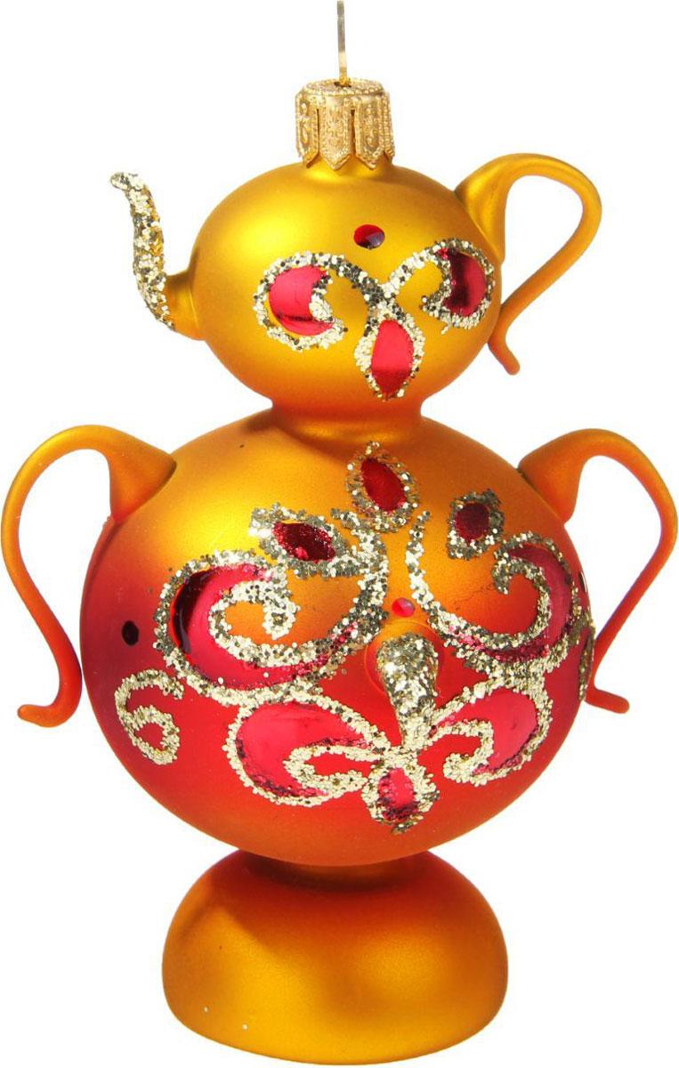 Новогоднее подвесное украшение Ёлочка Самоварчик, 6 х 6 х 12,5 см1721445Новогоднее подвесное украшение Ёлочка отлично подойдет для декорации вашего дома и новогодней ели. Новогоднее украшение можно повесить в любом понравившемся вам месте. Но, конечно, удачнее всего оно будет смотреться на праздничной елке.Елочная игрушка - символ Нового года. Она несет в себе волшебство и красоту праздника. Такое украшение создаст в вашем доме атмосферу праздника, веселья и радости.