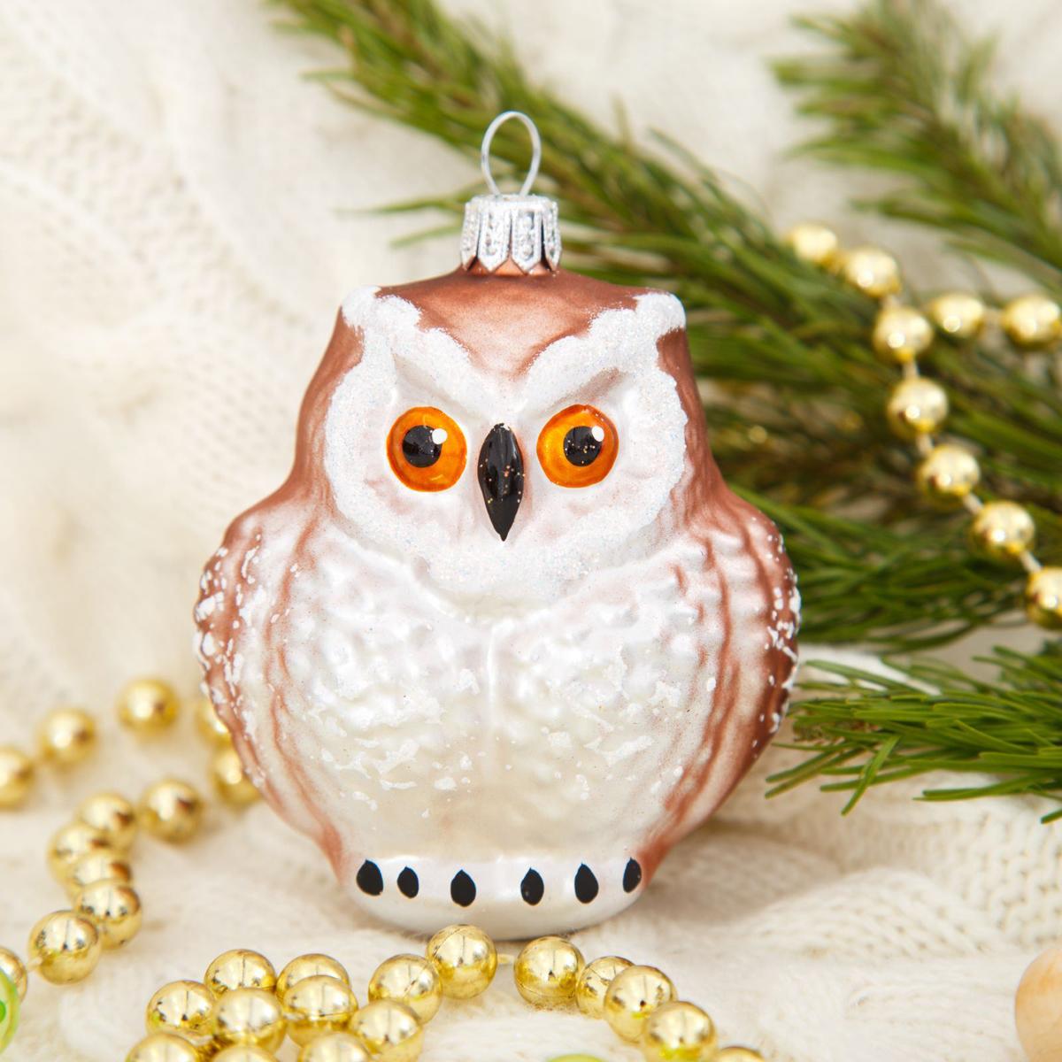 Новогоднее подвесное украшение Ёлочка Филин, 11 х 8 х 6,5 см1721449Новогоднее подвесное украшение Ёлочка отлично подойдет для декорации вашего дома и новогодней ели. Новогоднее украшение можно повесить в любом понравившемся вам месте. Но, конечно, удачнее всего оно будет смотреться на праздничной елке.Елочная игрушка - символ Нового года. Она несет в себе волшебство и красоту праздника. Такое украшение создаст в вашем доме атмосферу праздника, веселья и радости.